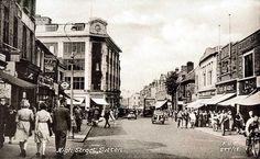 Surrey, Sutton. High Street circa 1950's