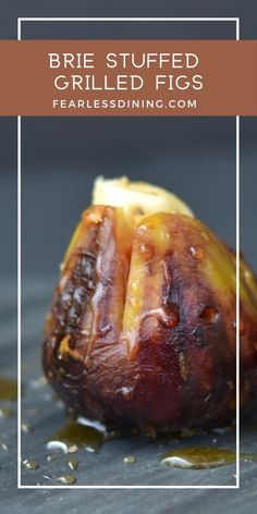 These grilled figs stuffed with brie and honey make a delicious appetizer that is perfect for a party. Step by step directions on how to grill fruit. Create your own platter of stuffed figs! Gluten Free Party Food, Gluten Free Appetizers, Yummy Appetizers, Appetizer Recipes, Brie Appetizer, Fig Recipes, Spring Recipes, Cooking Recipes, Burger Recipes