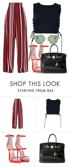 """""""she's kinda hot."""" by inlovewith4idiots ❤ liked on Polyvore featuring Giuseppe Zanotti, Hermès and Christian Dior"""