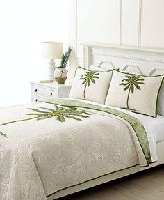 Martha Stewart Collection Coconut Palm Full/Queen Quilt