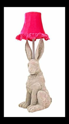 Grey Hare Lamp...WANT WANT WANT!