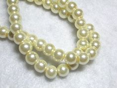 This item is unavailable Multi Strand Pearl Necklace, Ivory Pearl, Celestial, Pearls, Trending Outfits, Yellow, Unique Jewelry, Handmade Gifts, Glass