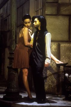 Graffiti Bridge movie promo still with Prince and Jill Jones 1990. Quick story - Jill Jones quit the movie when Prince re-casted Kim Basinger for the lead in an early script ... or was it Ingrid Chavez... I think it was Kim, anyway, she split on an airplane OUT of MPLS and Prince convinced to return and she got a bad part in the movie. Which is too bad, that was the last straw and even her 2nd Solo album on Paisley Park was cancelled...!