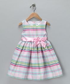 Take a look at this Pink & Green Candy Dress - Girls by Twirl & Whirl: Fancy Frocks on #zulily today!