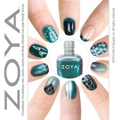 Zoya Nail Polish, Zoya Nail Care Treatments and Zoya Hot Lips Lip Gloss: Ten Ways To Wear Teal Zoya Nail Polish!