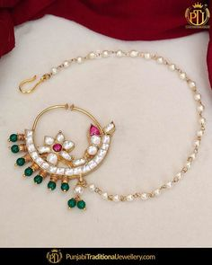 Nose Ring Jewelry, Indian Jewelry Earrings, Bridal Bangles, Bridal Jewelry, Stylish Jewelry, Fashion Jewelry, Nose Jewels, Diamond Nose Ring, Bridal Jewellery Inspiration