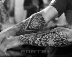 Dotwork Arm Geometric Tattoo by Dillon Forte
