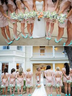 Ohhh Samantha...this site custom makes bridesmaid and bridal gowns...it could work...Blush Short Lace Bridesmaids Dress..