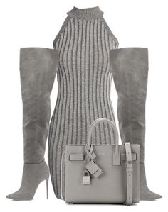 Untitled #159 by kayleyannejones on Polyvore featuring polyvore, fashion, style, Boohoo, Yves Saint Laurent and clothing