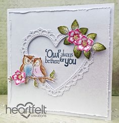 Heartfelt Creations | White Heart Love Birds