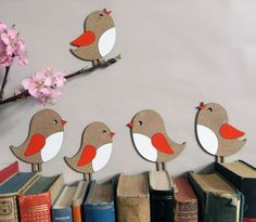 Wohndekoration: Kleine Piepmätze, Vögel / wall and living accessory, little bi. Bird Crafts, Animal Crafts, Flower Crafts, Felt Crafts, Easter Crafts, Crafts For Seniors, Diy Crafts For Kids, Arts And Crafts, Paper Birds