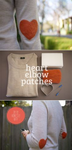 heart elbow patches | Tenacious Dee