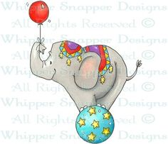 Circus Elephant - Circus - Rubber Stamps - Shop