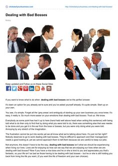 Dealing with bad bosses