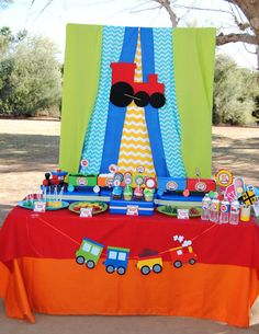 TRAIN Birthday Party  COMPLETE  Train Party  Boy by KROWNKREATIONS, $25.00