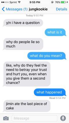 Pahahahahah I can see this happening😂 Bts Texts, Funny Texts, Fake Text Message, Bts Snapchats, Kpop Snapchat, Text Imagines, Bts Scenarios, Cute Relationship Texts, Bts Girl