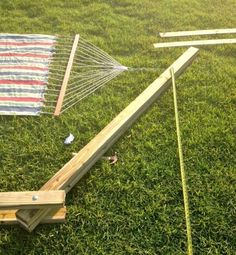 Make your own DIY Hammock Stand for 40 bucks! This is the perfect weekend project! Hammock Frame, Diy Hammock, Hammock Stand, Hammocks, Backyard Furniture, Backyard Projects, Outdoor Projects, Diy Wooden Projects, Wooden Diy