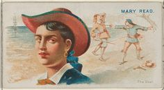 Mary Read, The Duel, from the Pirates of the Spanish Main series (N19) for Allen & Ginter Cigarettes