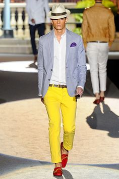 Dsquared2 Men's RTW Spring 2012   What a cute and a bit gutsy look