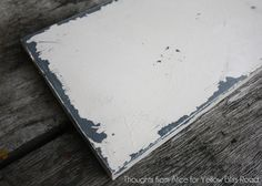 How to age canvas to look like painted distressed metal