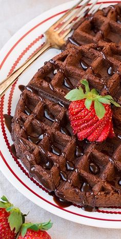 Chocolate Cake Mix Waffles (only 4 Ingredients) - Cooking Classy