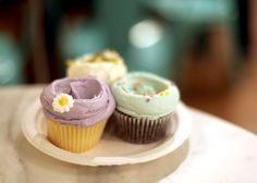 Magnolia Bakery Cupcakes. I love the frosting swirl and the delicate colors.