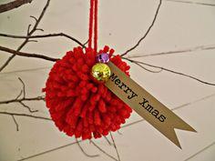 Pom Pom Christmas Ornament - Merry Xmas