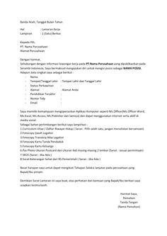 Surat Lamaran Kerja Notaris Ben Jobs Contoh Lamaran Kerja Dan Cv