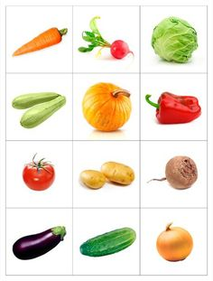 14 Printable Pictures Of Vegetables Fruit And Veg, Fruits And Vegetables, Fruit Fruit, Vegetable Prints, Montessori Materials, Food Themes, Kids Education, Preschool Activities, Kids And Parenting