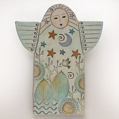 AngelHandmade Ceramic AngelHome Decor wall art by DavisVachon, $58.00