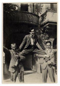 Hans Arp, Hans Richter y Tristan Tzara en Zurich, 1917