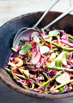 Full of fresh spring flavours, this energising salad is lovely on its own or as a side dish.