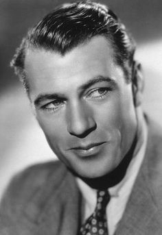 """Handsome, tall and suave, Gary Cooper who will forever be remembered for his role in, """"High Noon""""."""