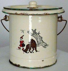 Ancien pot de chambre en tole maill pot pinterest pots - Pot de chambre antique ...