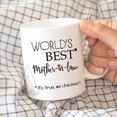Gifts For Mother In Law Inlaws Worlds Best Coffee Cup Christmas Birthday Gift By ArtRuss On Etsy