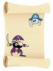 Papier voor de schrijfhoek / Papier à lettre Personnages Garçon à imprimer