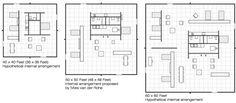 arquitextos 130.03: A Casa Núcleo de Mies van der Rohe, um Projeto Teórico sobre a Habitação Essencial (1) | vitruvius