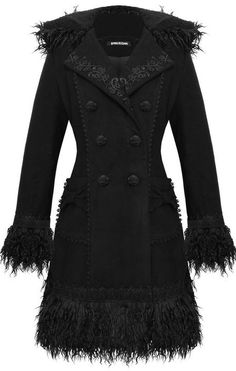 hooded coat with faux fur & lace <3