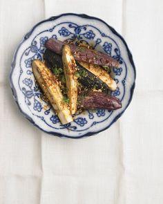 Eggplants, Peanut sauce and Mushrooms on Pinterest