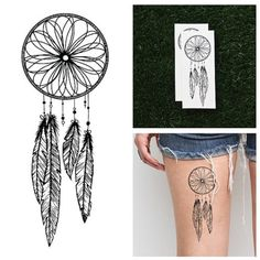 Dreamcatcher Temporary Tattoo (Set of 2) - Hipster Jewelry Temporary Tattoos