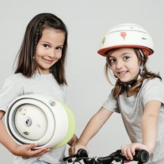 Helmet brand Closca has launched a children's version of its folding bicycle helmet that's accompanied by city-themed stickers for customisation. Kids Helmets, Folding Bicycle, Kids Bicycle, Bicycle Helmet, Product Launch, Children, Collection, Shopping, Waterfalls