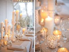 Burlap Wedding Decor...(I think we need to start zeroing in on a theme/look/feel.  Traci, you like the burlap....what about burlap, crystal, babys breath, and splashes of the light pink color you like??)