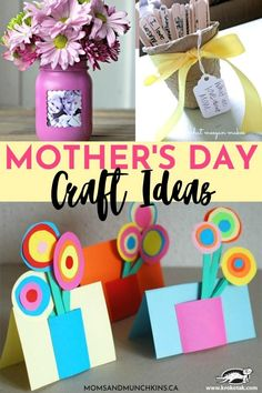 Want to make some affordable yet adorable Mother's Day craft? These Mother's Day craft ideas are creative, unique and will definitely put a smile on Mom's face when she sees them! Diy Mother's Day Crafts For Toddlers, Fun Crafts To Do, Diy Gifts For Kids, Mothers Day Crafts For Kids, Fathers Day Crafts, Easter Crafts For Kids, Toddler Crafts, Kid Crafts, Yarn Crafts