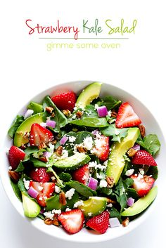 Strawberry Kale Salad   Gimme Some Oven