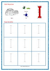Tracing Letters - Letter Tracing Worksheets - Capital I - Free Preschool Printables Free Printable Alphabet Worksheets, Alphabet Writing Worksheets, Alphabet Writing Practice, Letter Worksheets For Preschool, Alphabet Tracing, Free Preschool, Preschool Printables, Free Printables, Preschool Alphabet