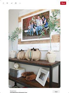 Pallet photo frame!!! Love it!!!
