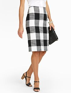 Talbots - Bold Plaid Pencil Skirt | New Arrivals | Petites