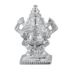 Jpearls Holy Ganesh Silver Idol | Silver Murtis/Statues of God