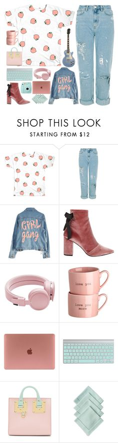 """""""Girl gang and peaches"""" by i-am-cool-girl ❤ liked on Polyvore featuring Robert Clergerie, Urbanears, Sophie Hulme, Juliska and Fujifilm"""