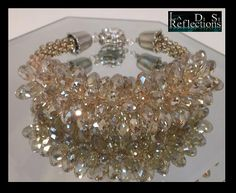 Champagne Kumihimo Bracelet Instructions by LadiSiReflections, $5.00